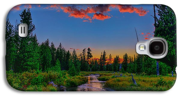 Lucky Dogs Galaxy S4 Cases - Evening On Lucky Dog Creek Galaxy S4 Case by Greg Norrell