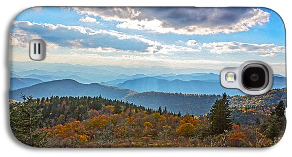 Smokey Mountains Paintings Galaxy S4 Cases - Evening on the Blue Ridge Parkway Galaxy S4 Case by John Haldane