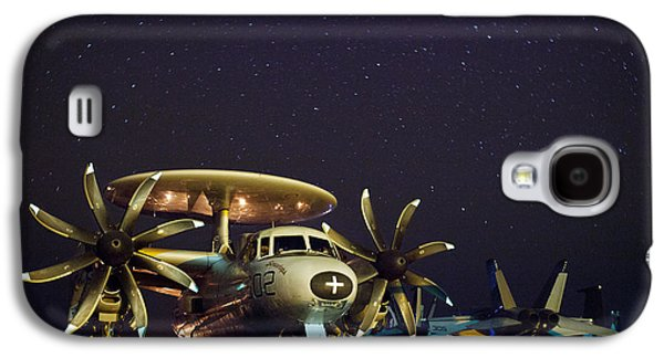 Jet Star Photographs Galaxy S4 Cases - Evening on the Carrier Galaxy S4 Case by Mountain Dreams