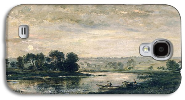Charles River Paintings Galaxy S4 Cases - Evening on the Oise Galaxy S4 Case by Charles Francois Daubigny