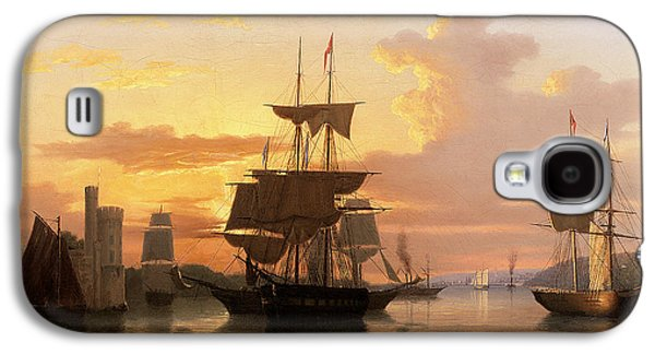 Evening Paintings Galaxy S4 Cases - Evening on the River Lee Below Blackrock Castle Galaxy S4 Case by GMW Atkinson