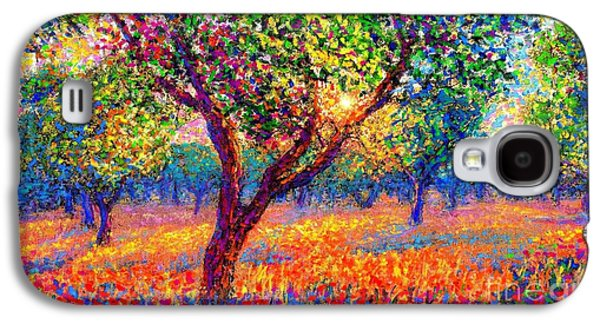 Evening Poppies Galaxy S4 Case by Jane Small