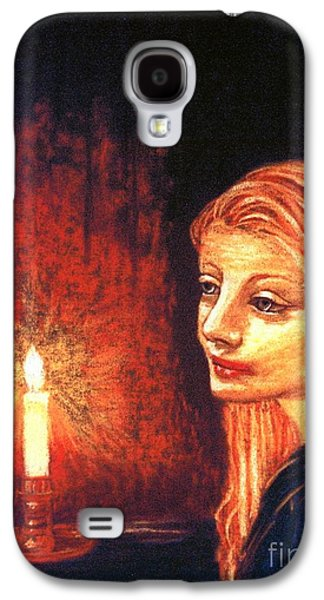 Spiritual Portrait Of Woman Galaxy S4 Cases - Evening Prayer Galaxy S4 Case by Jane Small