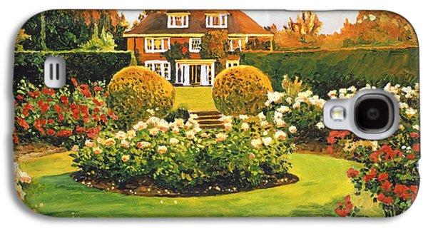 Gardenscapes Galaxy S4 Cases - Evening Rose Garden Galaxy S4 Case by David Lloyd Glover