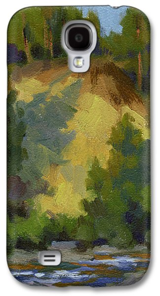 Evening Paintings Galaxy S4 Cases - Evening Shadows Teanaway River Galaxy S4 Case by Diane McClary
