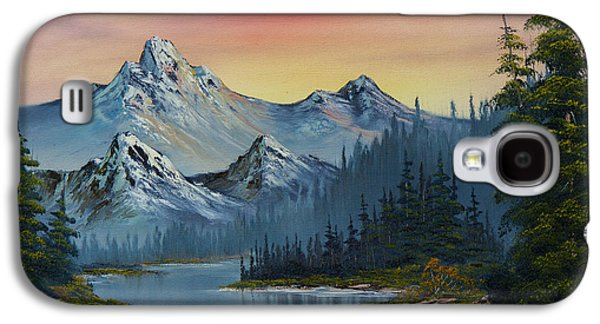 Recently Sold -  - Bob Ross Paintings Galaxy S4 Cases - Evening Splendor Galaxy S4 Case by C Steele