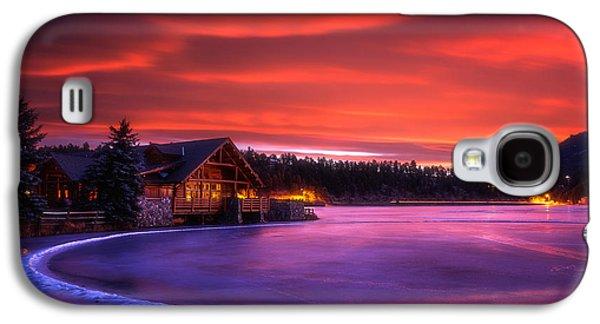Darren Galaxy S4 Cases - Evergreen Lake Sunrise Galaxy S4 Case by Darren  White