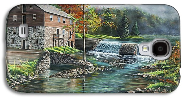 Grist Mill Paintings Galaxy S4 Cases - Everharts Mill Galaxy S4 Case by Christopher Lyter