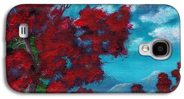Autumn Landscape Drawings Galaxy S4 Cases - Everything Autumn Galaxy S4 Case by Anastasiya Malakhova
