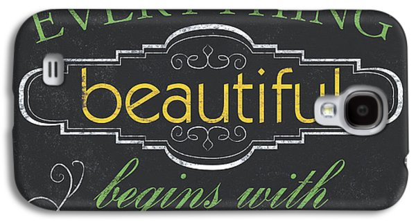 Bible Paintings Galaxy S4 Cases - Everything Beautiful Galaxy S4 Case by Debbie DeWitt