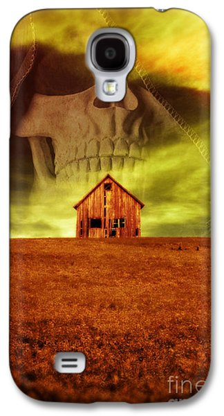 Creepy Galaxy S4 Cases - Evil Dwells in the haunted house on the hill Galaxy S4 Case by Edward Fielding