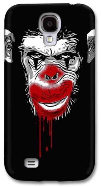Ape Digital Art Galaxy S4 Cases - Evil Monkey Clown Galaxy S4 Case by Nicklas Gustafsson