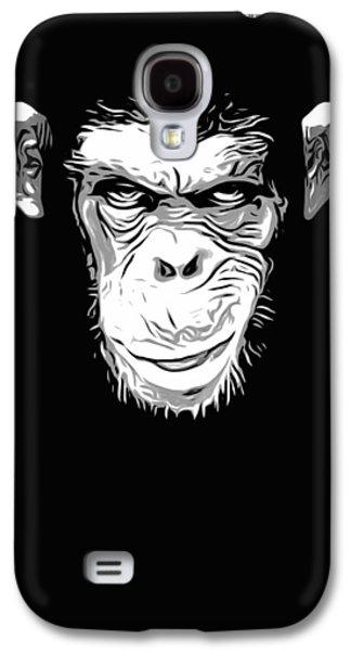 Ape Digital Art Galaxy S4 Cases - Evil Monkey Galaxy S4 Case by Nicklas Gustafsson