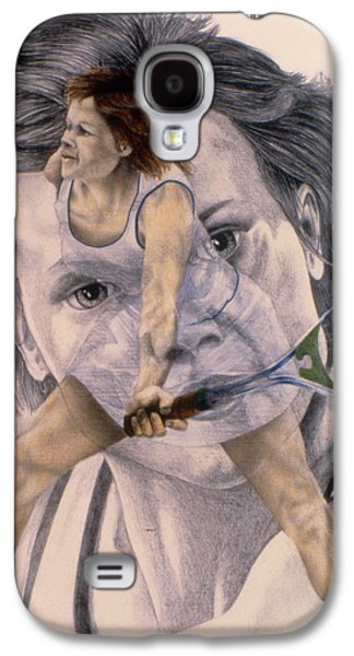 Sharapova Galaxy S4 Cases - Evonne Goolagong Cawley Galaxy S4 Case by Phil Welsher