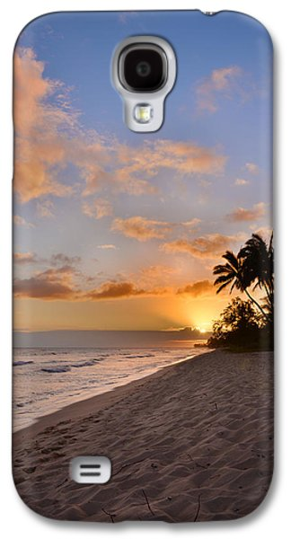 Park Scene Galaxy S4 Cases - Ewa Beach Sunset 2 - Oahu Hawaii Galaxy S4 Case by Brian Harig