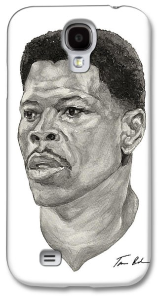 Patrick Ewing Paintings Galaxy S4 Cases - Ewing Galaxy S4 Case by Tamir Barkan