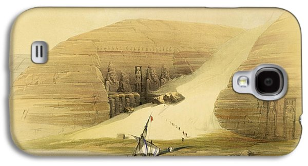 Ancient Paintings Galaxy S4 Cases - Excavated Temple of Abu Simbel Galaxy S4 Case by David Roberts
