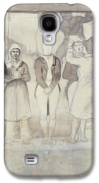 Punishment Galaxy S4 Cases - Execution In London The Punishment Wc & Pencil On Paper Galaxy S4 Case by Theodore Gericault