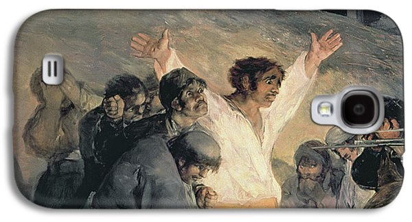 Independence Paintings Galaxy S4 Cases - Execution of the Defenders of Madrid Galaxy S4 Case by Francisco Jose de Goya y Lucientes