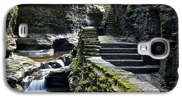 Deceptive Galaxy S4 Cases - Exiting Watkins Glen Gorge Galaxy S4 Case by Frozen in Time Fine Art Photography