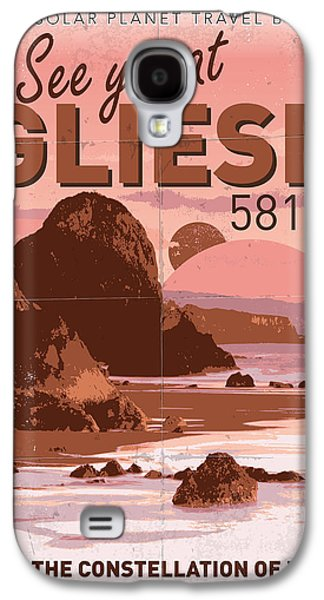 Exoplanet 01 Travel Poster Gliese 581 Galaxy S4 Case by Chungkong Art