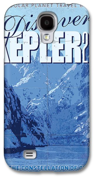 Exoplanet 02 Travel Poster Kepler 22b Galaxy S4 Case by Chungkong Art
