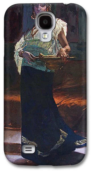 19th Century Galaxy S4 Cases - Exotic Woman Galaxy S4 Case by Edouard Richter