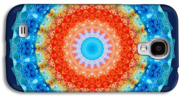 Kaleidoscope Galaxy S4 Cases - Expanding Energy 1 - Mandala Art By Sharon Cummings Galaxy S4 Case by Sharon Cummings