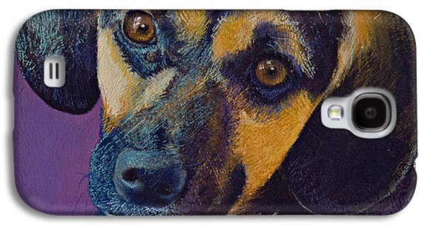 Dogs Pastels Galaxy S4 Cases - Expectations Galaxy S4 Case by Tracy L Teeter