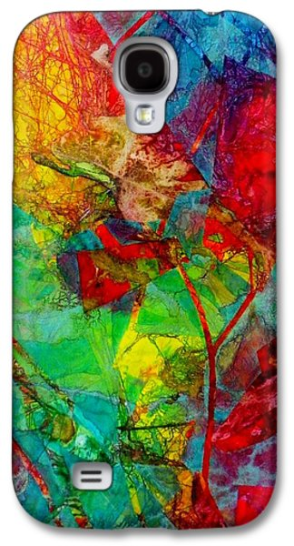 Boardroom Mixed Media Galaxy S4 Cases - Experimental Red Galaxy S4 Case by David Raderstorf