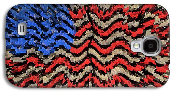 Times Square Digital Galaxy S4 Cases - Exploding with Patriotism Galaxy S4 Case by John Farnan