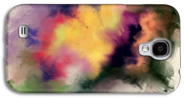 Abstract Digital Paintings Galaxy S4 Cases - Exploring Shapes 01 Galaxy S4 Case by Jo-Anne Gazo-McKim