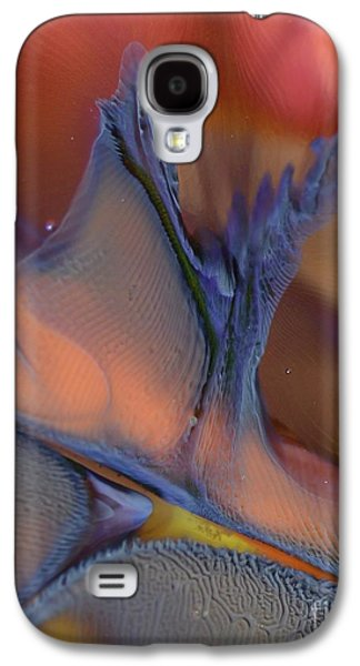 Abstracts Glass Galaxy S4 Cases - Explosion in Blue Galaxy S4 Case by Kimberly Lyon