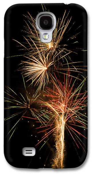 4th July Pyrography Galaxy S4 Cases - Explosion Galaxy S4 Case by Shirley Tinkham