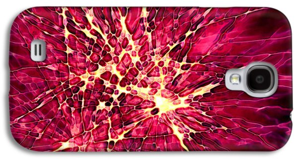 Best Sellers -  - 4th July Mixed Media Galaxy S4 Cases - Explosion Galaxy S4 Case by Stephanie Hollingsworth