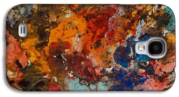 Disorder Paintings Galaxy S4 Cases - Explosive Chaos Galaxy S4 Case by Natalie Holland