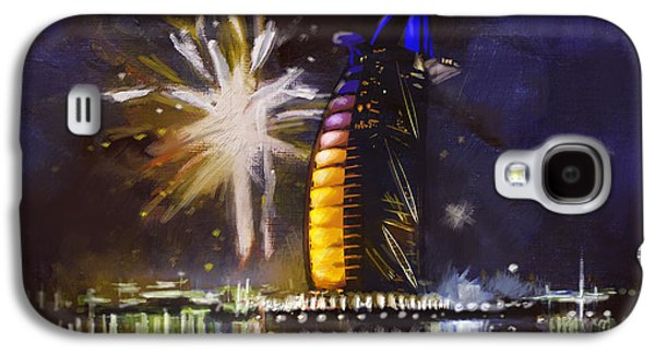 Fireworks Paintings Galaxy S4 Cases - Expo Celebrations Galaxy S4 Case by Corporate Art Task Force