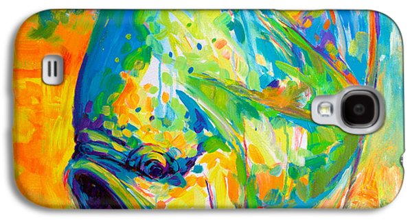 Sportfishing Galaxy S4 Cases - Expressionist Dolphin Fish  Galaxy S4 Case by Mike Savlen