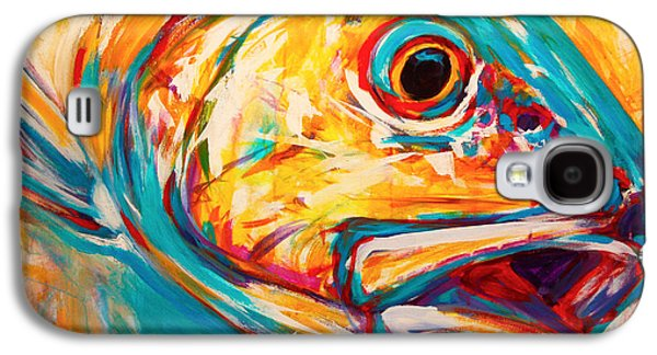 Picture Paintings Galaxy S4 Cases - Expressionist Redfish Galaxy S4 Case by Mike Savlen