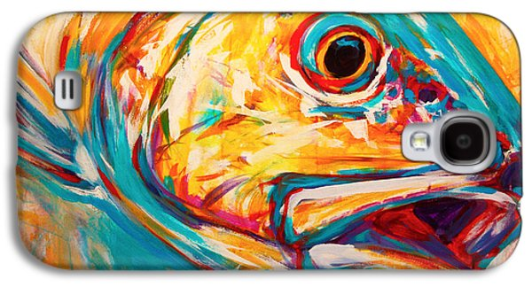 Fly Galaxy S4 Cases - Expressionist Redfish Galaxy S4 Case by Mike Savlen