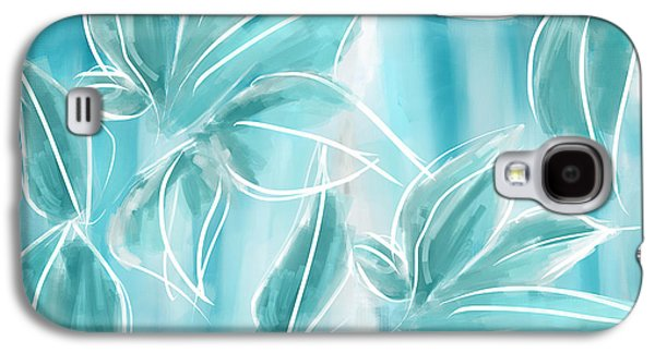 Blue Abstracts Galaxy S4 Cases - Exquisite Bloom Galaxy S4 Case by Lourry Legarde