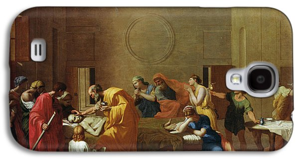 Sombre Galaxy S4 Cases - Extreme Unction, C.1637-40 Oil On Canvas Galaxy S4 Case by Nicolas Poussin