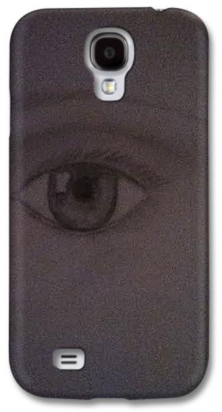 Drawing Pyrography Galaxy S4 Cases - Eye Drawing Galaxy S4 Case by Hannah  Van Pelt