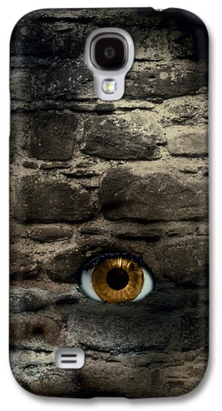 Creepy Galaxy S4 Cases - Eye In Brick Wall Galaxy S4 Case by Amanda And Christopher Elwell