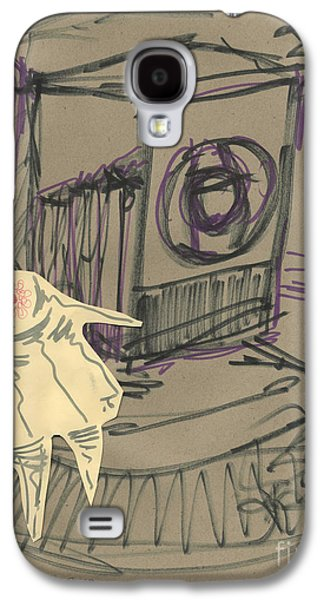 Abstract Collage Drawings Galaxy S4 Cases - Eye of the Camera Dancing Galaxy S4 Case by Cathy Peterson