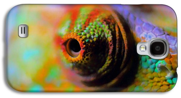 Chameleon Galaxy S4 Cases - Eye of the Chameleon  Galaxy S4 Case by Mountain Dreams