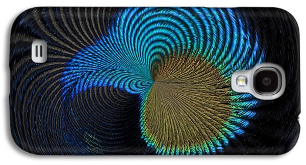 Abstract Digital Photographs Galaxy S4 Cases - Eye of the Peacock Galaxy S4 Case by Anne Gilbert