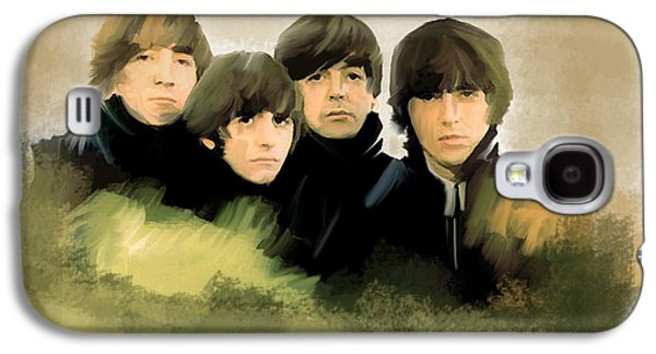 Beatles Drawings Galaxy S4 Cases - Eye of The Storm The Beatles Galaxy S4 Case by Iconic Images Art Gallery David Pucciarelli