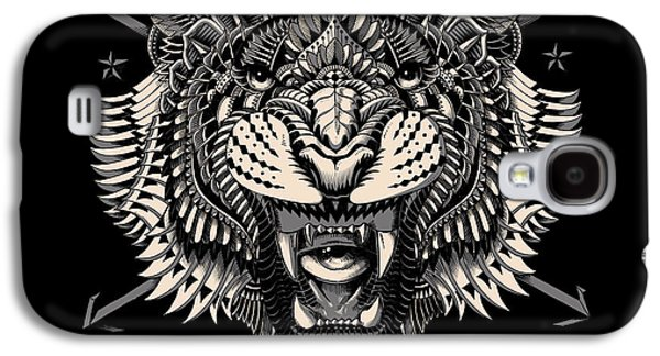 Native Drawings Galaxy S4 Cases - Eye of the Tiger Galaxy S4 Case by BioWorkZ