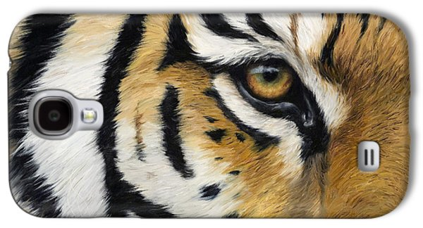 Tiger Galaxy S4 Cases - Eye Of The Tiger Galaxy S4 Case by Lucie Bilodeau